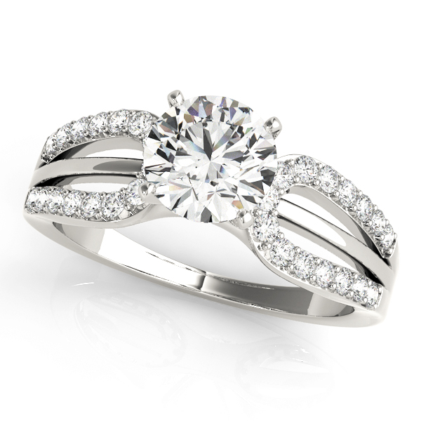 14k-white-gold-multirow-round-shape-diamond-engagement-ring-84283-14K-White-Gold