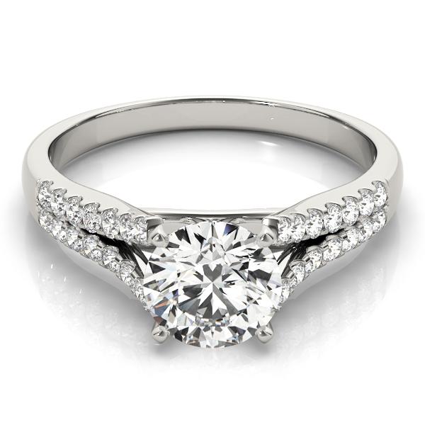 14k-white-gold-multirow-round-shape-diamond-engagement-ring-84286-14K-White-Gold