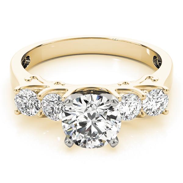14k-yellow-gold-single-row-round-shape-diamond-engagement-ring-84316-14K-Yellow-Gold
