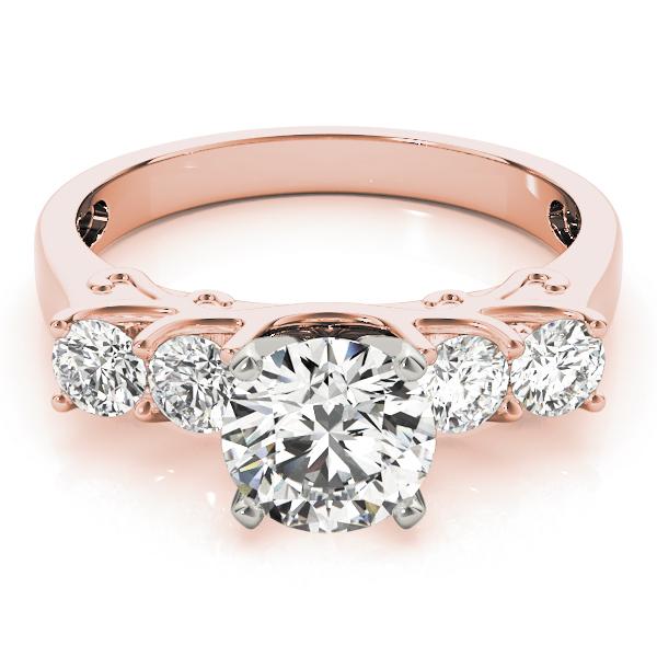 18k-rose-gold-single-row-round-shape-diamond-engagement-ring-84316-18K-Rose-Gold