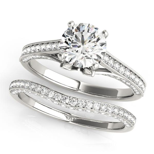 14k-white-gold-single-row-round-shape-diamond-engagement-ring-84324-14K-White-Gold