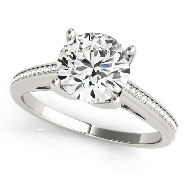 14k-white-gold-single-row-round-shape-diamond-engagement-ring-84351-14K-White-Gold