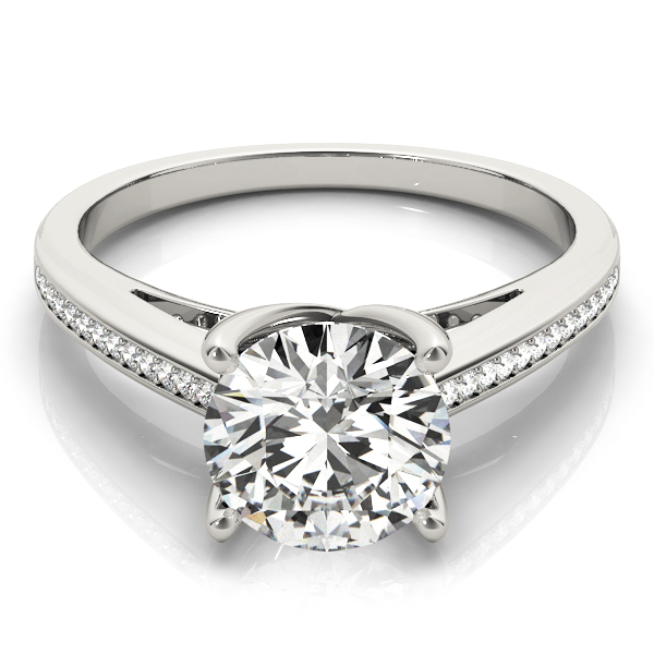 14k-white-gold-single-row-round-shape-diamond-engagement-ring-84351-14K-White-Gold