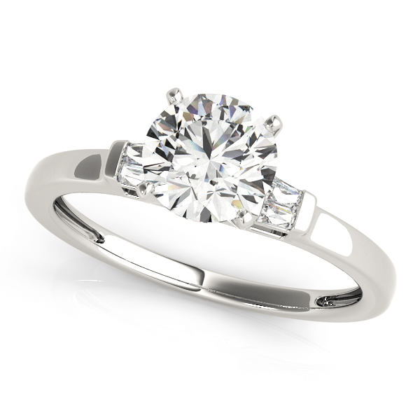 14k-white-gold-pave-round-shape-diamond-engagement-ring-84358-14K-White-Gold