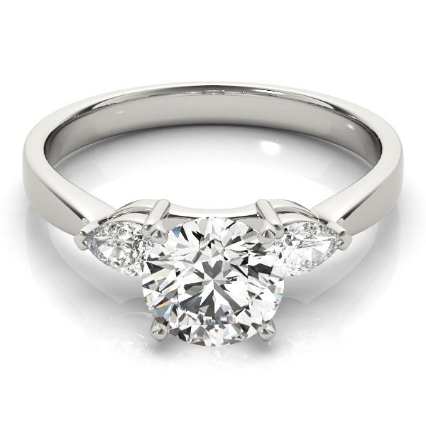 14k-white-gold-three-stone-round-shape-diamond-engagement-ring-84360-14K-White-Gold