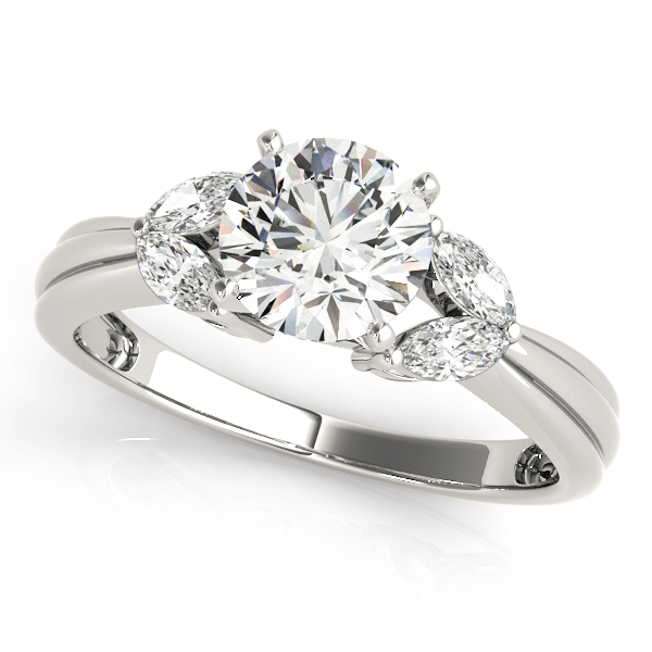 14k-white-gold-pave-round-shape-diamond-engagement-ring-84362-14K-White-Gold