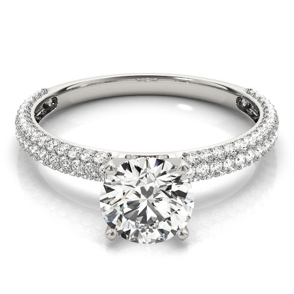 14k-white-gold-pave-round-shape-diamond-engagement-ring-84370-14K-White-Gold