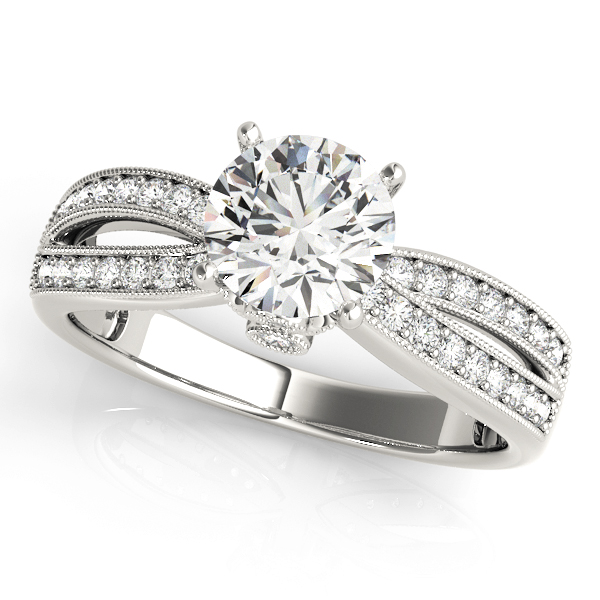 14k-white-gold-multirow-round-shape-diamond-engagement-ring-84386-14K-White-Gold