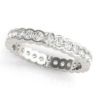 14K White Gold Eternity Diamond Wedding Ring