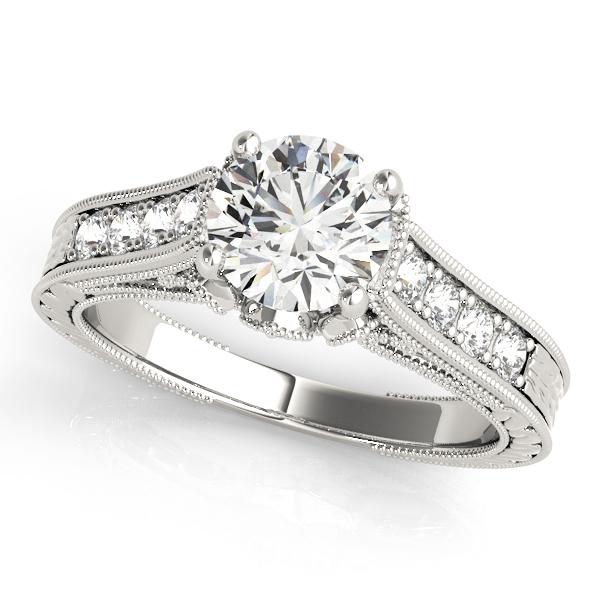 14k-white-gold-single-row-round-shape-diamond-engagement-ring-84419-14K-White-Gold