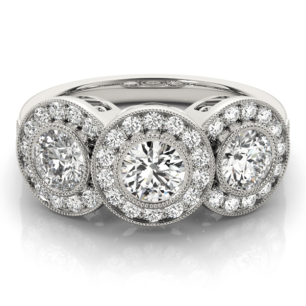 14k-white-gold-three-stone-round-shape-diamond-engagement-ring-84448-14K-White-Gold