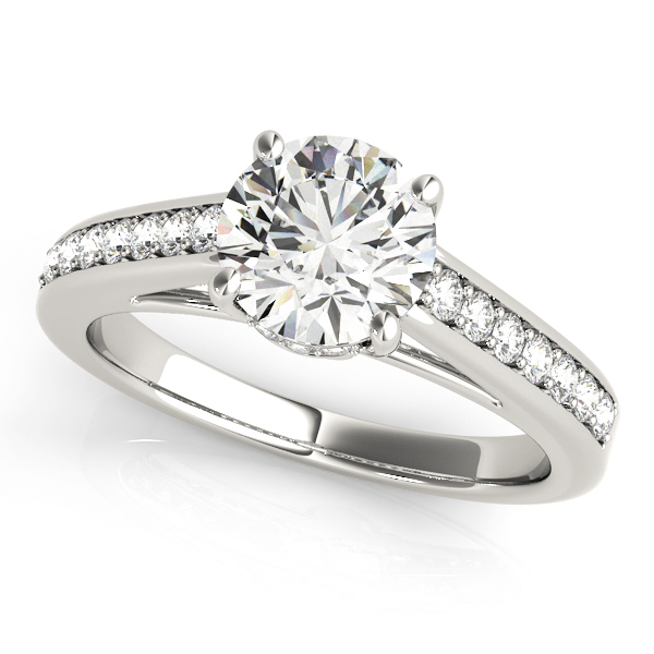 14k-white-gold-single-row-round-shape-diamond-engagement-ring-84455-14K-White-Gold