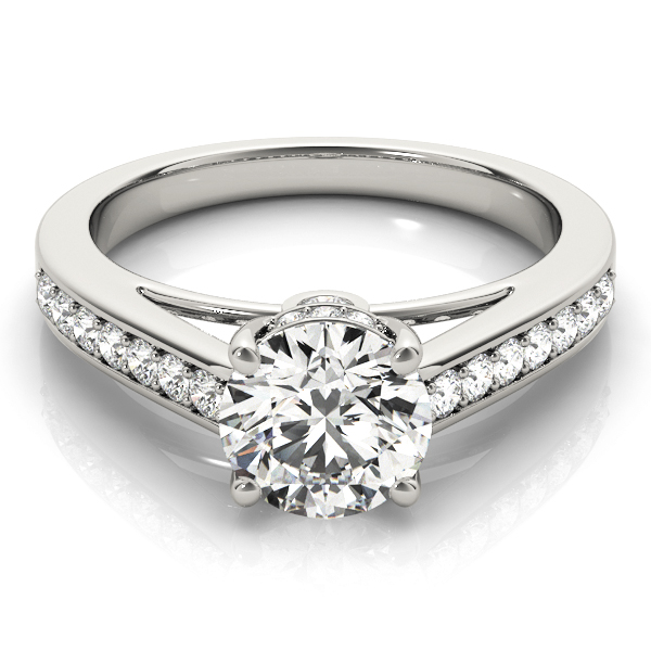 14k-white-gold-single-row-round-shape-diamond-engagement-ring-84455-14K-White-Gold