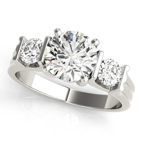 14k-white-gold-three-stone-round-shape-diamond-engagement-ring-84464-14K-White-Gold