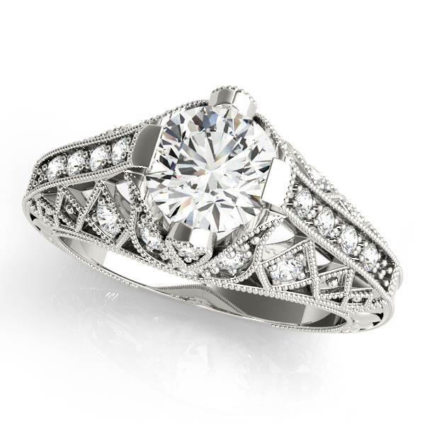 14k-white-gold-vintage-round-shape-diamond-engagement-ring-84523-14K-White-Gold