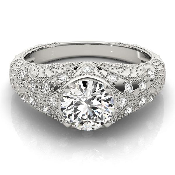 14k-white-gold-vintage-round-shape-diamond-engagement-ring-84536-14K-White-Gold