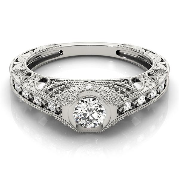 14k-white-gold-vintage-round-shape-diamond-engagement-ring-84538-14K-White-Gold