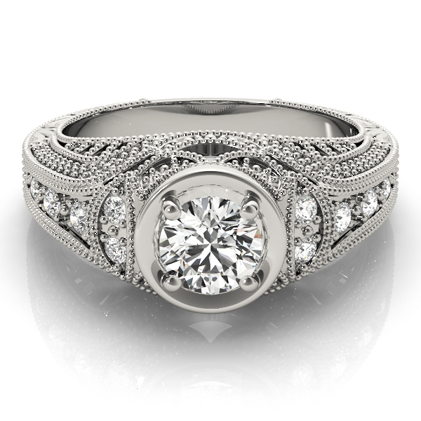 14k-white-gold-vintage-round-shape-diamond-engagement-ring-84545-14K-White-Gold