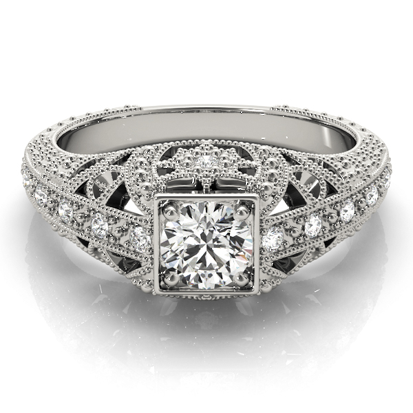 14k-white-gold-vintage-round-shape-diamond-engagement-ring-84546-14K-White-Gold