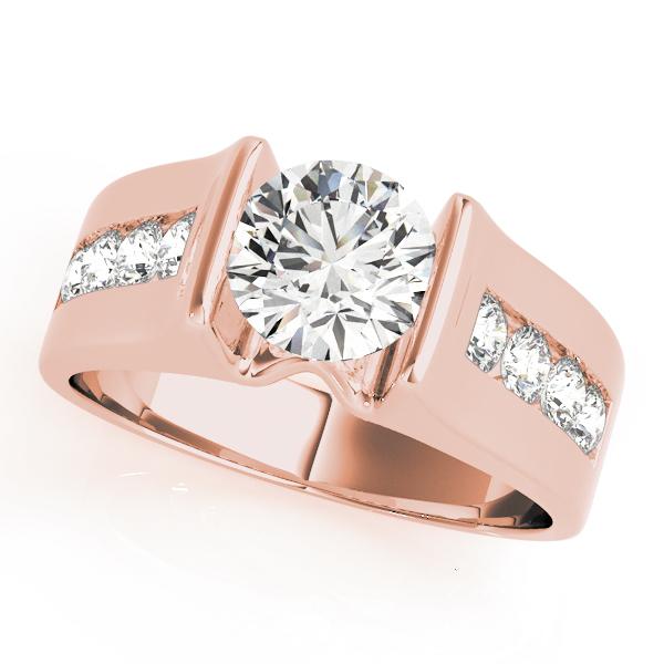 14k-rose-gold-single-row-round-shape-diamond-engagement-ring-84556-14K-Rose-Gold