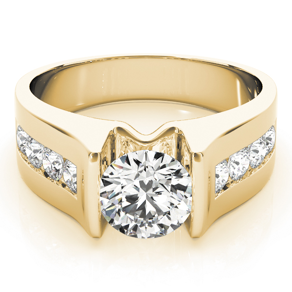14k-yellow-gold-single-row-round-shape-diamond-engagement-ring-84556-14K-Yellow-Gold