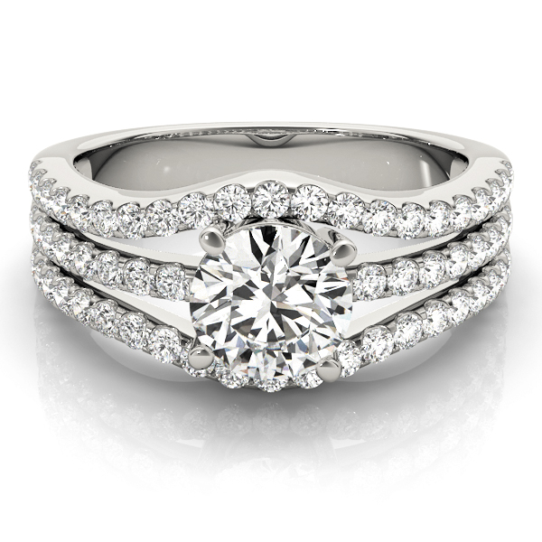 14k-white-gold-multirow-round-shape-diamond-engagement-ring-84627-14K-White-Gold