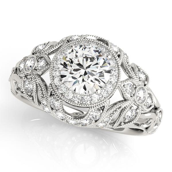 14k-white-gold-vintage-round-shape-diamond-engagement-ring-84672-14K-White-Gold