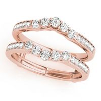 14K Rose Gold Wraps & Inserts Diamond Wedding Ring