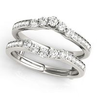 14K White Gold Wraps & Inserts Diamond Wedding Ring