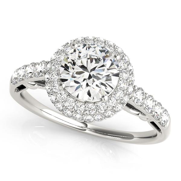 14k-white-gold-halo-round-shape-diamond-engagement-ring-84677-14K-White-Gold
