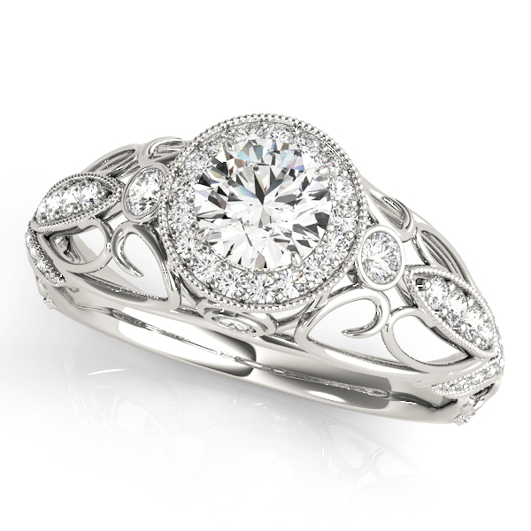 14k-white-gold-vintage-round-shape-diamond-engagement-ring-84681-14K-White-Gold