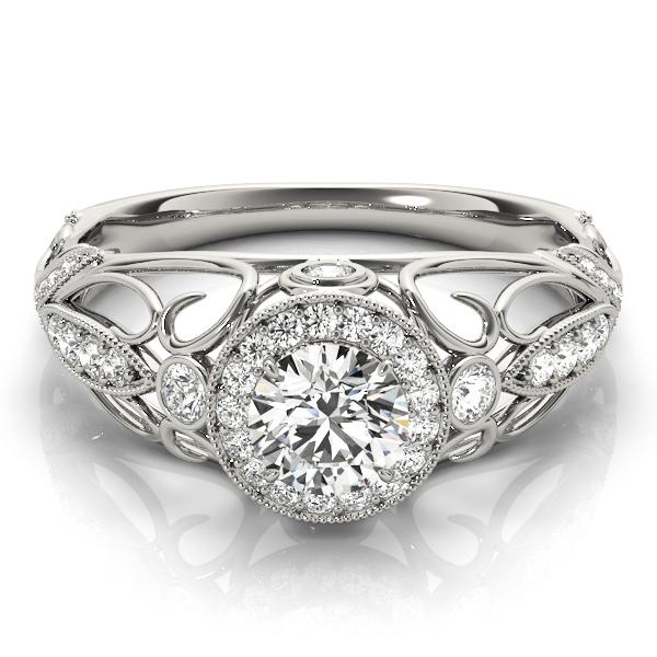 14k-white-gold-vintage-round-shape-diamond-engagement-ring-84681-14K-White-Gold