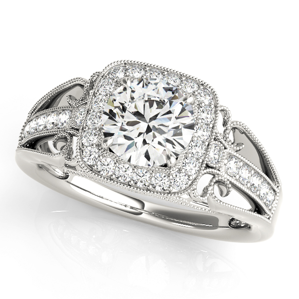 14k-white-gold-vintage-round-shape-diamond-engagement-ring-84682-14K-White-Gold