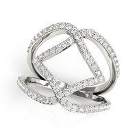Platinum Open Concept Diamond Fashion Ring