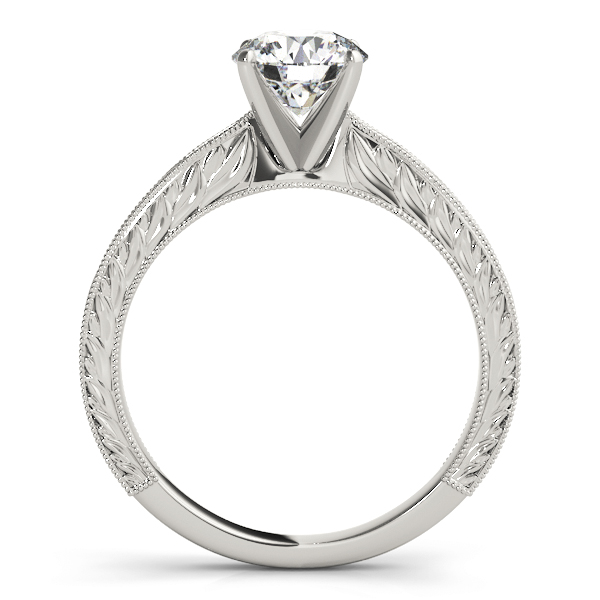14k-white-gold-vintage-round-shape-diamond-engagement-ring-84757-14K-White-Gold