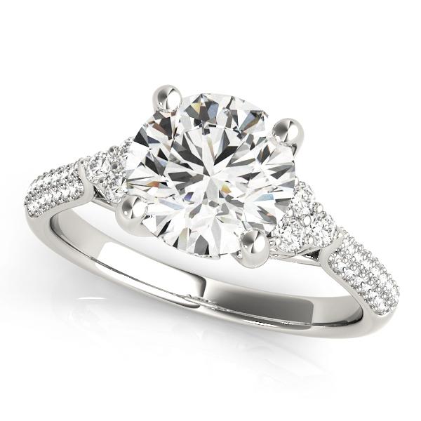14k-white-gold-side-stone-round-shape-diamond-engagement-ring-84814-14K-White-Gold