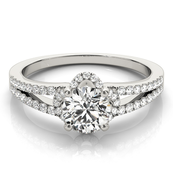 14k-white-gold-halo-round-shape-diamond-engagement-ring-84818-14K-White-Gold