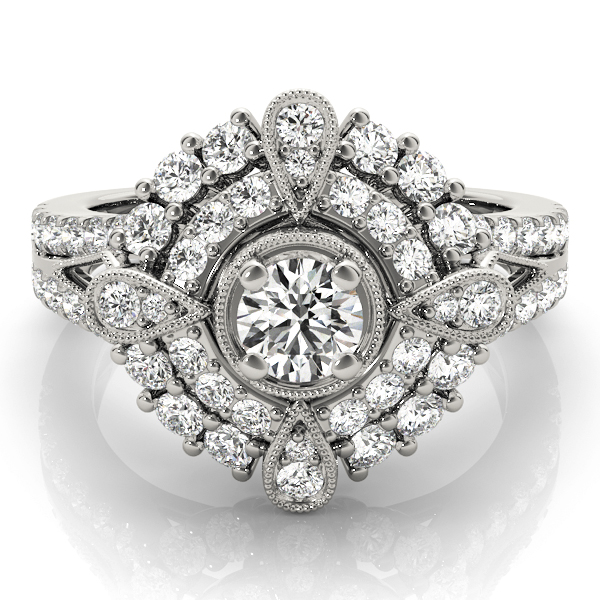 14k-white-gold-vintage-round-shape-diamond-engagement-ring-84819-14K-White-Gold