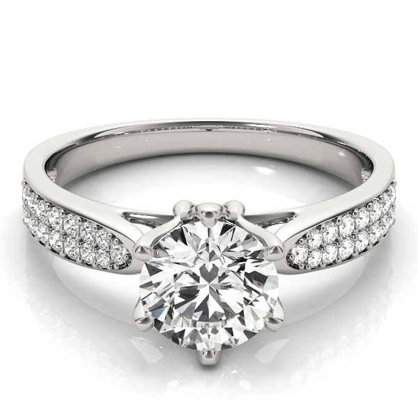 14k-white-gold-pave-round-shape-diamond-engagement-ring-84826-14K-White-Gold