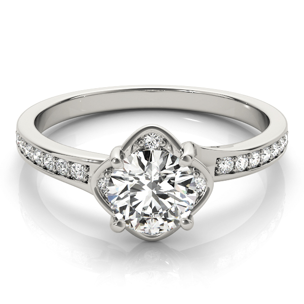 14k-white-gold-halo-round-shape-diamond-engagement-ring-84827-14K-White-Gold