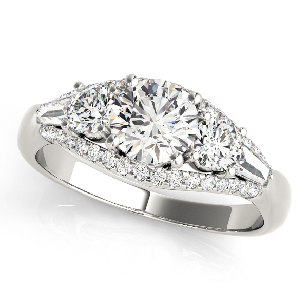 14k-white-gold-multirow-round-shape-diamond-engagement-ring-84837-14K-White-Gold