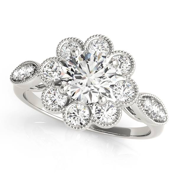 14k-white-gold-vintage-round-shape-diamond-engagement-ring-84841-14K-White-Gold