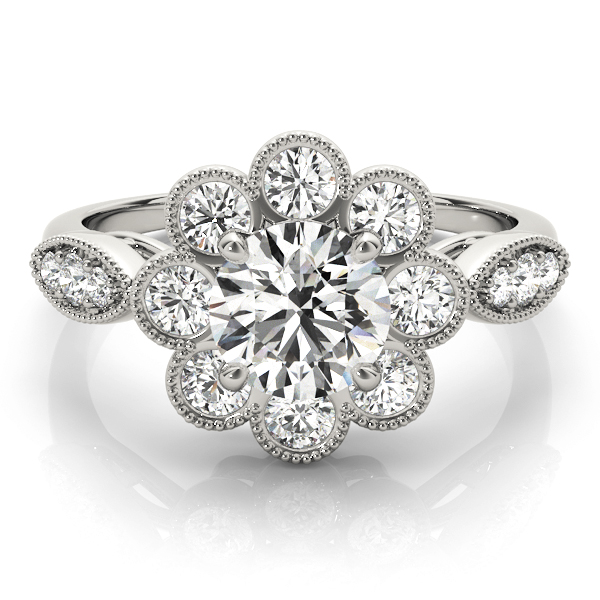 14k-white-gold-vintage-round-shape-diamond-engagement-ring-84841-14K-White-Gold