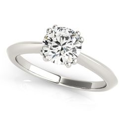 14K WG Solitaire Round Brilliant Engagement Ring