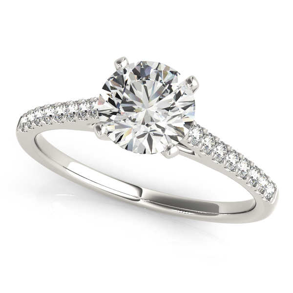 14k-white-gold-single-row-round-shape-diamond-engagement-ring-84846-14K-White-Gold