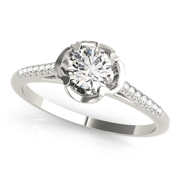 14k-white-gold-vintage-round-shape-diamond-engagement-ring-84878-14K-White-Gold