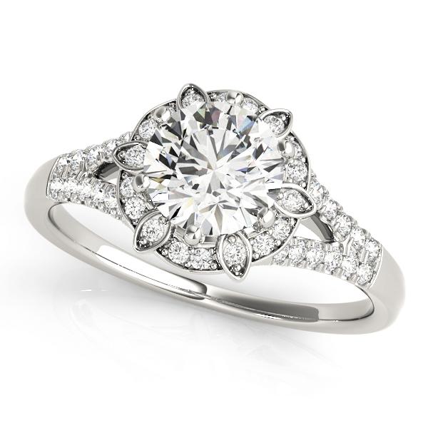 14k-white-gold-vintage-round-shape-diamond-engagement-ring-84882-14K-White-Gold