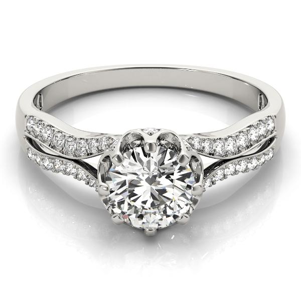 14k-white-gold-multirow-round-shape-diamond-engagement-ring-84886-14K-White-Gold