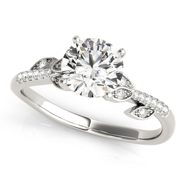 14k-white-gold-single-row-round-shape-diamond-engagement-ring-84890-14K-White-Gold