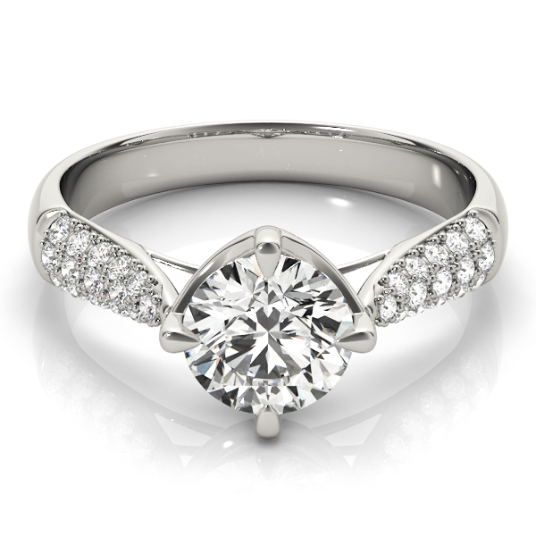 14k-white-gold-pave-round-shape-diamond-engagement-ring-84894-14K-White-Gold